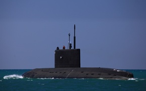 """Picture boat, Navy, underwater, The black sea, electric, diesel, """"Novorossiysk"""", SSK, the project 636.3"""