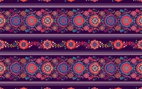 Wallpaper ornament, pattern, strip, purple