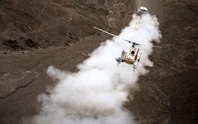 Wallpaper X-raid, 2014, Mini, Mini Copper, Race, Dust, Helicopter, Sport, Dakar, Mini, SUV, Rally