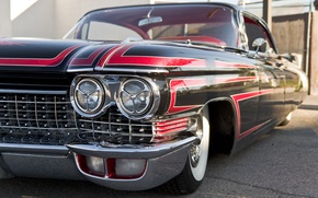 Picture retro, lights, Cadillac, 1960, the front