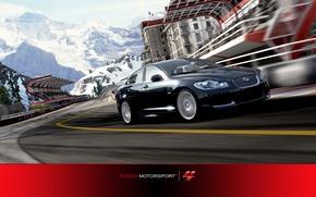 Picture winter, speed, track, Jaguar, check, Forza Motorsport 4, Jaguar XFR