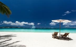 Picture sand, sea, beach, chaise, summer, beach, sea, sand, vacation