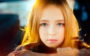Picture portrait, girl, Serg Piltnik, Childhood