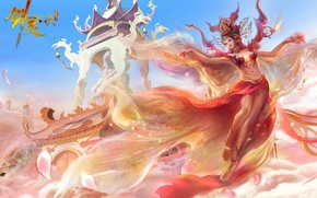 Picture fantasy, anime, art, China, girl. game. the city