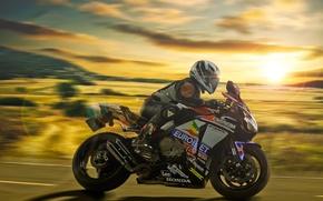 Picture race, motorcycle, Honda, motorcyclist, Honda, ISLE of MAN TT