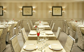 Picture table, chair, restaurant, the hotel, the hotel, dining room