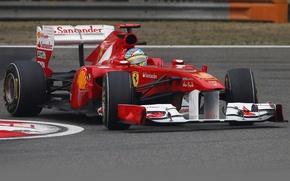 Picture China, track, turn, Shanghai, formula 1, pilot, Ferrari, formula 1, racer, 2011, Fernando Alonso, formula …