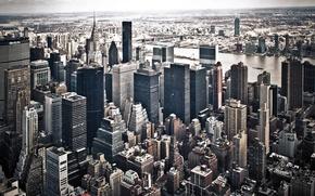 Wallpaper the city, building, skyscrapers, new York, USA, megapolis, New York