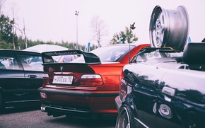 Picture bmw, red, e36, stance nation, m3