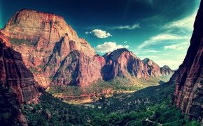 Picture mountains, nature, canyon