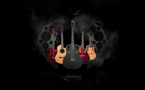 Picture music, black, Wallpaper, guitar