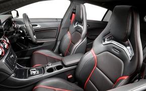 Picture interior, chairs, Mercedes, salon, Mercedes, AMG, AMG, Shooting Brake, AU-spec, CLA 45, 2015, X117