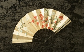 Picture BACKGROUND, CHINESE, FAN, TEXTURE