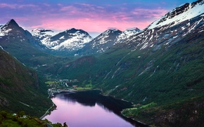 Picture mountains, Norway, Norway, the fjord
