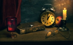 Picture watch, candle, ring, book, Time immortal