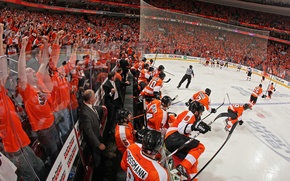Picture hockey, NHL, NHL, Philadelphia Flyers, The Philadelphia Flyers, orange crush