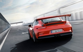 Picture 911, Porsche, Shadow, Track, Back, GT3-RS