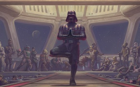 Picture pose, Star Wars, darth vader, stand, fan art, sith