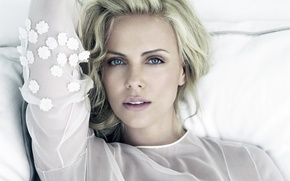 Picture look, girl, face, background, Charlize Theron, hair, actress, lips, beauty, Charlize Theron