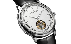 Picture watch, Jaeger LeCoultre Hybris Mechanica 11, metal, leather