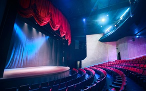 Picture scene, lighting, chairs, theatre, hall, the ranks