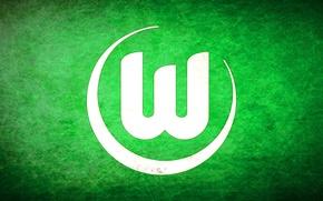Wallpaper Logo, Wolfsburg, Wolfsburg, German football club, Bundesliga, Volkswagen Arena
