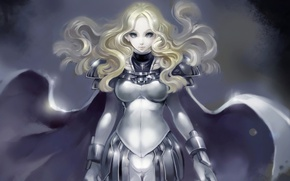 Picture girl, armor, blonde, Claymore, Teresa