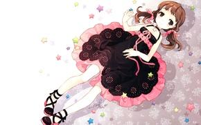 Picture smile, pattern, stars, sundress, kanochan