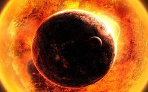 Picture sun, planet, heat