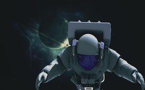Picture space, stars, planet, dal, astronaut, space