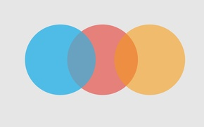 Picture Colored, Circles, Circles, Colored, Crossing, Three circles