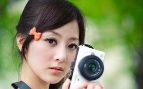 Picture girl, model, face, Camera, korea, blackhead