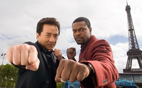 Wallpaper Jackie Chan, Chris Tucker, Rush hour, Rush Hour