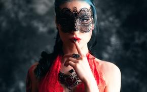 Picture girl, decoration, mask, Gloria