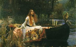 Picture picture, Lady of shallotte, The Lady of Shalott, 1888, preraphaelite, John William Waterhouse, John William …