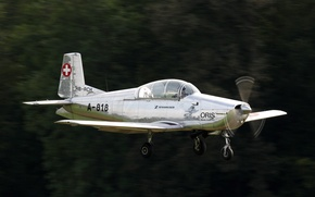 Picture the plane, single-engine, training, Swiss, P-3, Pilatus, Pilatus P-3