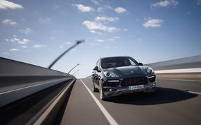 Picture machine, Porsche, SUV, car, Porsche, crossover, Porsche Cayenne, Porsche Cayenne Turbo