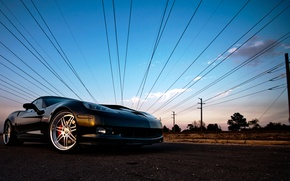 Wallpaper corvette, chevrolet, the sky