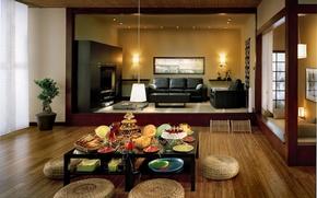 Picture living room, interior, unique style