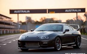 Picture turbo, supra, black, road, japan, toyota, jdm, tuning, power, race, track, australia