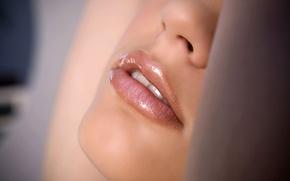 Wallpaper macro, lips, mouth