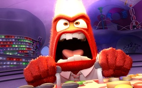 Picture cartoon, animation, Disney, Pixar, Puzzle, emotion, Anger, Inside Out, Anger