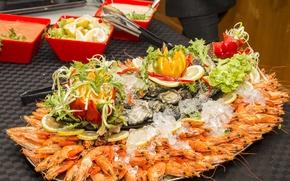 Picture dish, shrimp, seafood