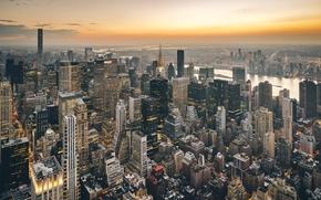 Wallpaper the city, lights, the evening, USA, New York