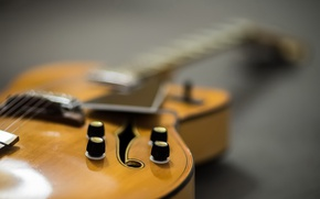Wallpaper music, macro, background, guitar