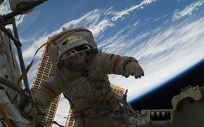 Picture space, ISS, astronaut, Russia