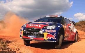 Picture Auto, Dust, Sport, Machine, Logo, Citroen, The hood, Day, Citroen, Lights, DS3, WRC, Rally, Rally, …