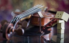 Picture notes, violin, Danbo, violinist