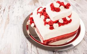 Picture cake, dessert, sweet, glaze, roses, cakes