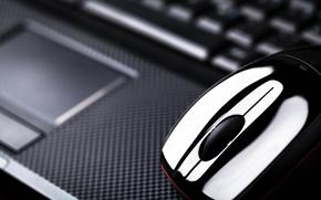 Picture macro, blur, mouse, laptop, notebook, hi-tech, bokeh, computer, mouse, laptop, wallpaper., touchpad, technology, touchpad